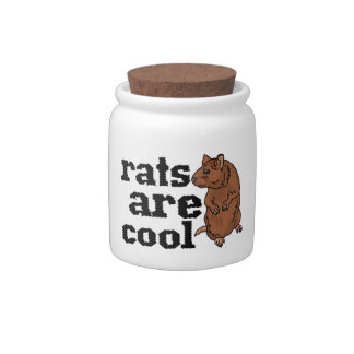 Rats Are Cool Candy Jars