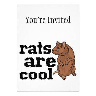 Rats Are Cool Personalized Announcement