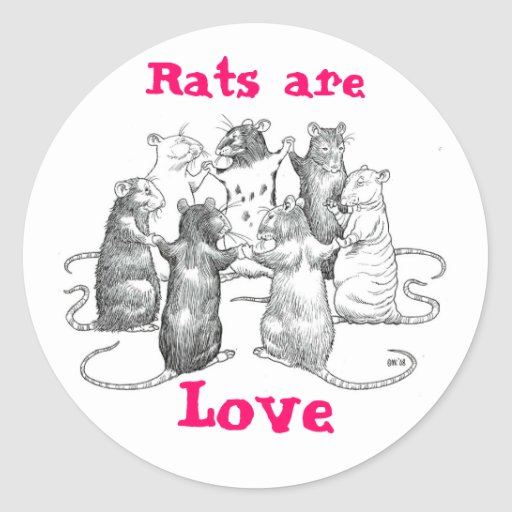 Rats are Love Stickers