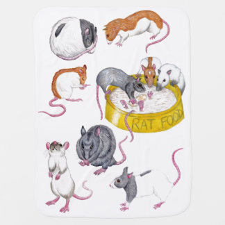 rats baby blanket baby blanket