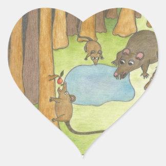 Rats Heart Sticker