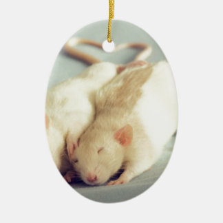 Rats heart tail ceramic ornament