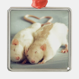 Rats heart tail metal ornament