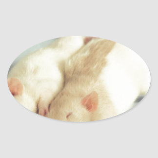 Rats heart tail oval sticker