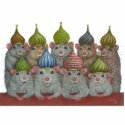Rats in St Basil's onion dome hats sculpture