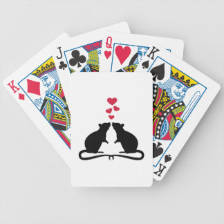 Rats love hearts bicycle playing cards