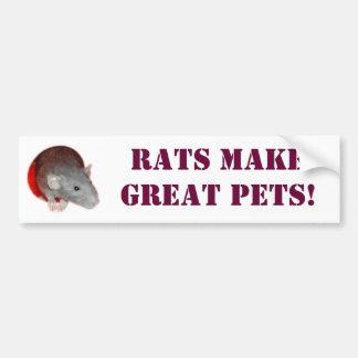 Rats make great pets! Bumper Sticker