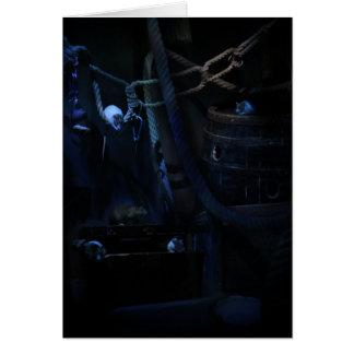 rats on pirateship greeting card