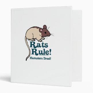 Rats Rule! 3 Ring Binder