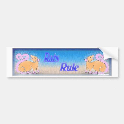 Rats Rule Bumper Sticker