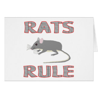 RATS RULE GREETING CARDS