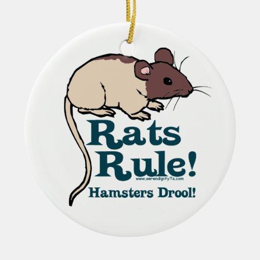 Rats Rule! Christmas Tree Ornaments