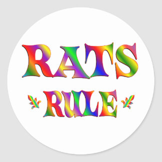 RATS RULE CLASSIC ROUND STICKER