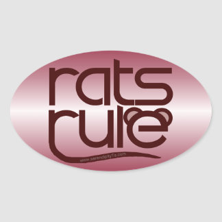 Rats Rule! Oval Sticker