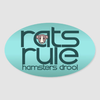 Rats Rule Oval Sticker