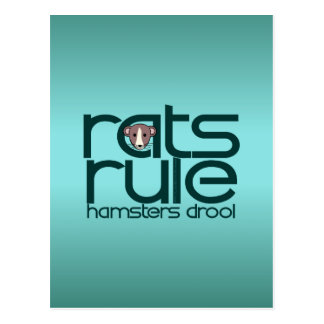 Rats Rule Post Card