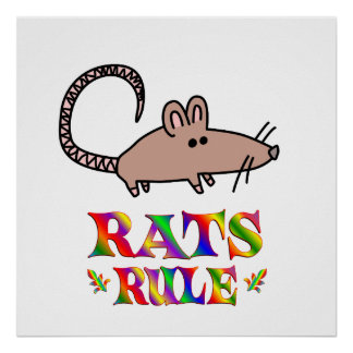 Rats Rule Posters