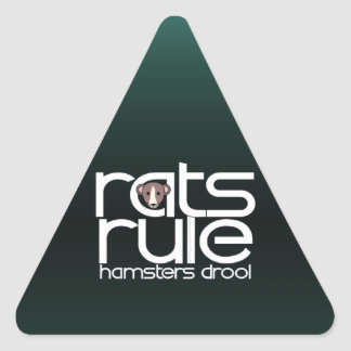 Rats Rule Triangle Stickers