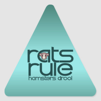 Rats Rule Triangle Sticker
