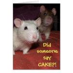 rats talking greetings card