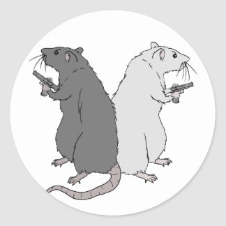 Rats with Gats Stickers