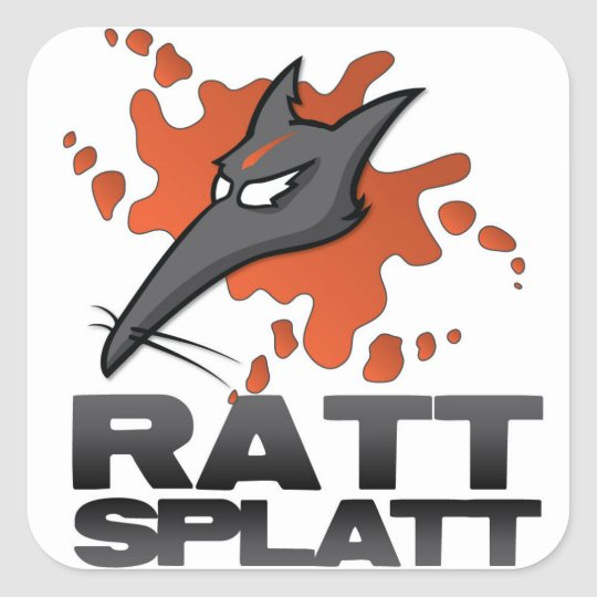 Ratt Splat Paintball Sticker