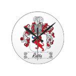 Ratta Family Crest Round Wallclock