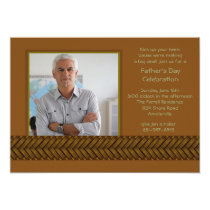 Rattan Braid Photo Father's Day Invitation