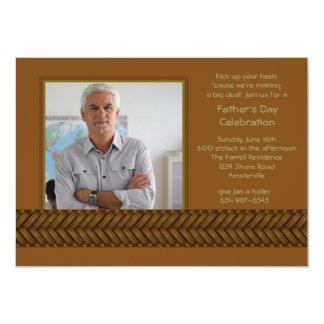Rattan Braid Photo Father's Day Invitation