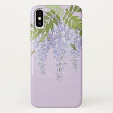 Rattan, white mauve, Fuji, Shirafuji-iro, Wisteria iPhone XS Case