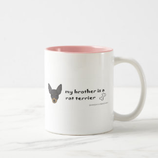 RatTerrierBlkTanBrother Two-Tone Coffee Mug