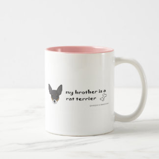 RatTerrierBlkWtTanBrother Two-Tone Coffee Mug