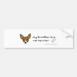 RatTerrierTanWhiteBrother Bumper Sticker