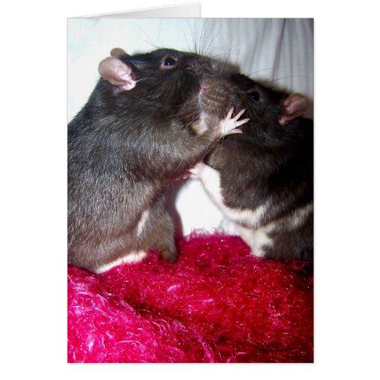 Rattie Kisses Card