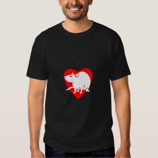 Rattitude heart t shirt