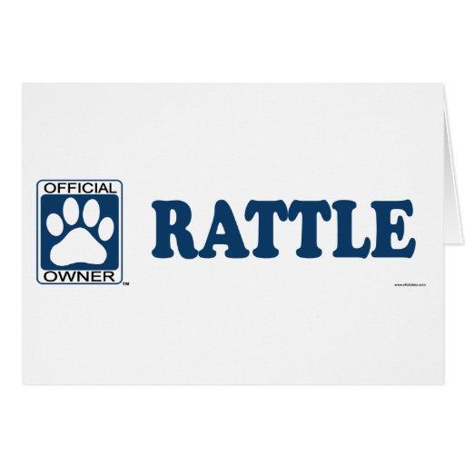 RATTLE_blue Tarjeta De Felicitación
