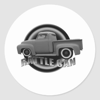 Rattle Can Customs Classic Round Sticker