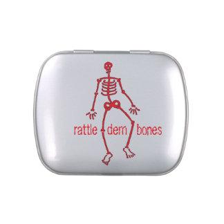 Rattle dem bones Red Skeleton Jelly Belly Tin
