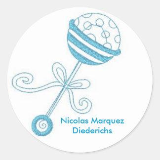 rattle, Nicolas Marquez Diederichs Classic Round Sticker