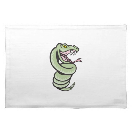 Rattle Snake Coiling Up Cartoon Placemat