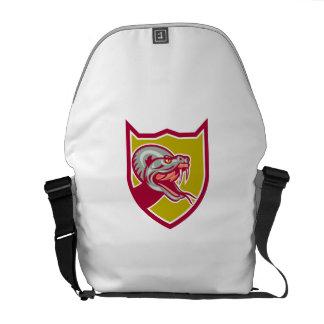 Rattle Snake Head Shield Retro Commuter Bags