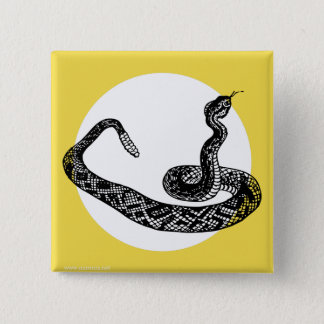 Rattle snake pinback button
