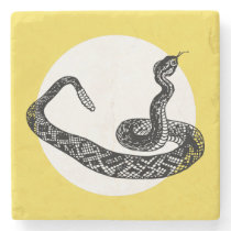 rattle snake stone coaster