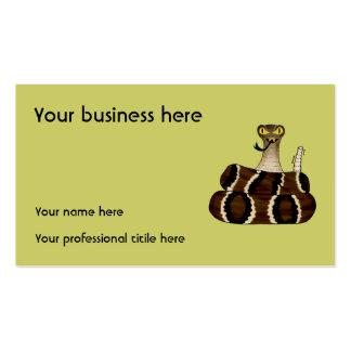 Rattler Pack Of Standard Business Cards