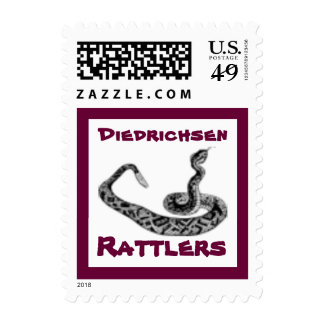 Rattlers Rattlesnake School Mascot Postage Stamp