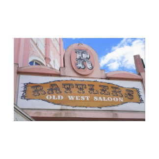 Rattlers Saloon Canvas Print