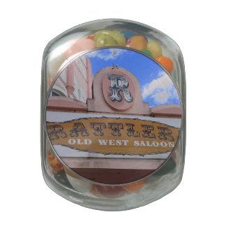 Rattlers Saloon Glass Jars