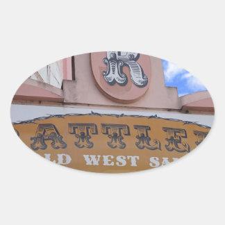 Rattlers Saloon Oval Sticker