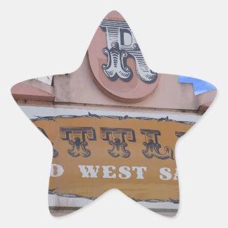 Rattlers Saloon Star Sticker