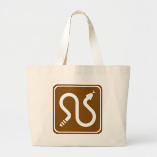 Rattlesnake Area Highway Sign Tote Bags